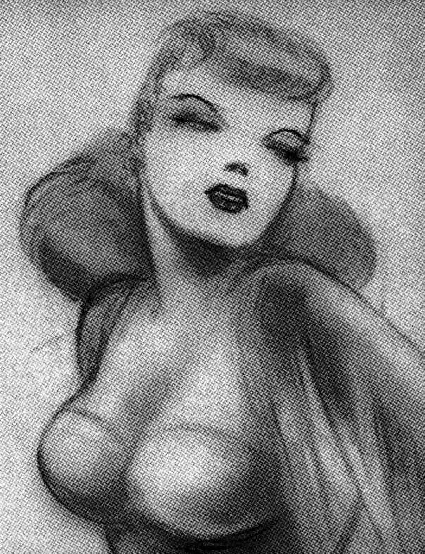 Drawing of Glenda Farrell inspiration for Lois