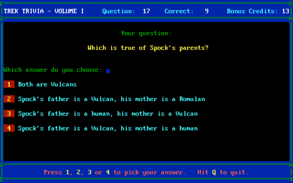 Star Trek Trivia 3
